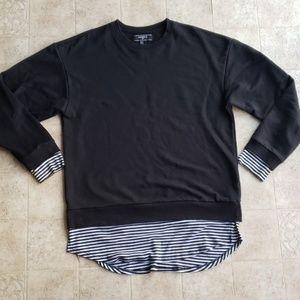 Mens Forever 21 XXI Size Medium Blk/White Sweater